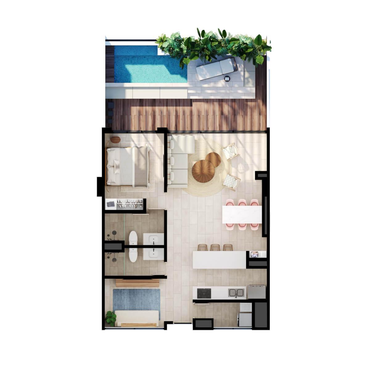 Meraki Club. Apartamento con piscina en cartagena