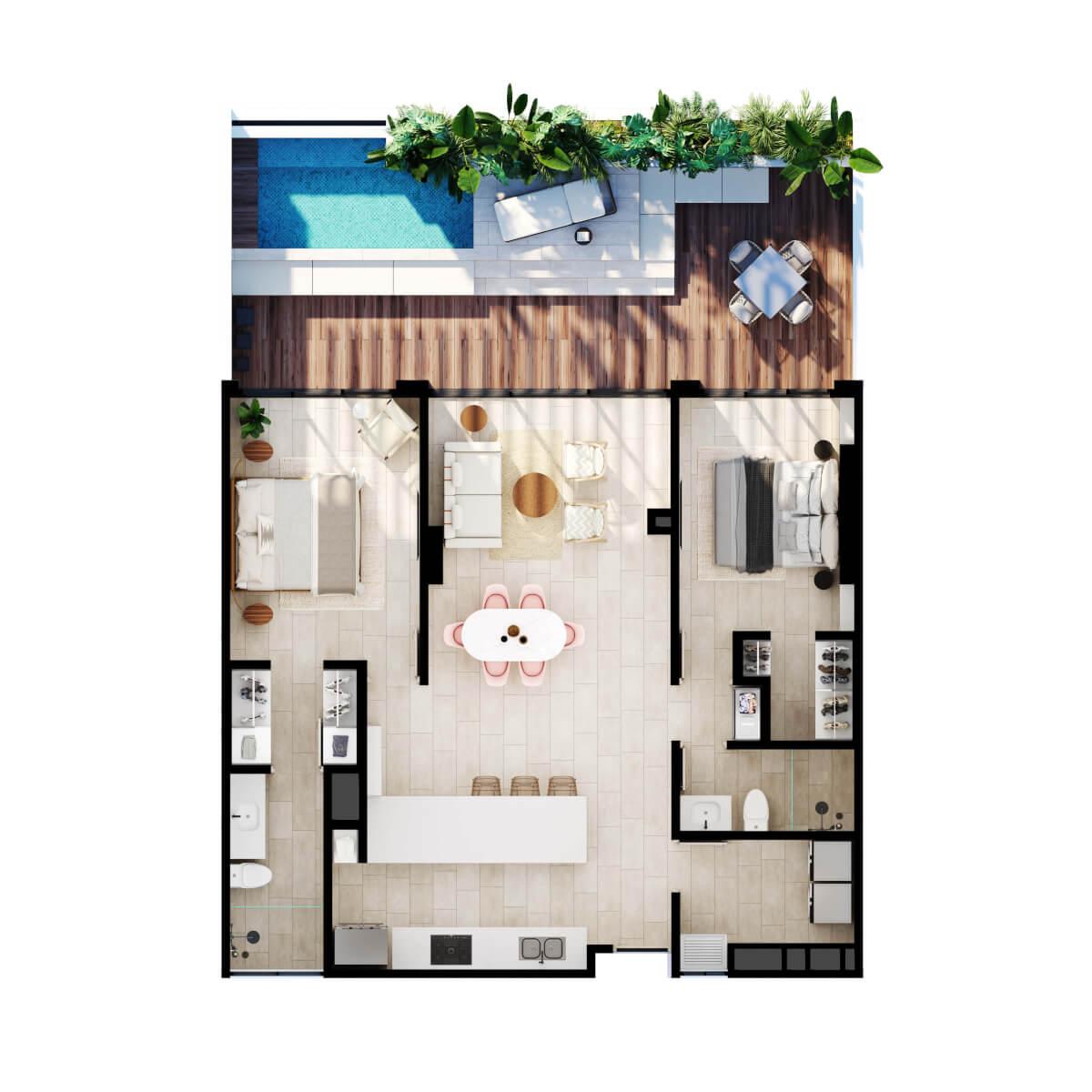 Apartamento con piscina privada en Cartagena.Serena del mar